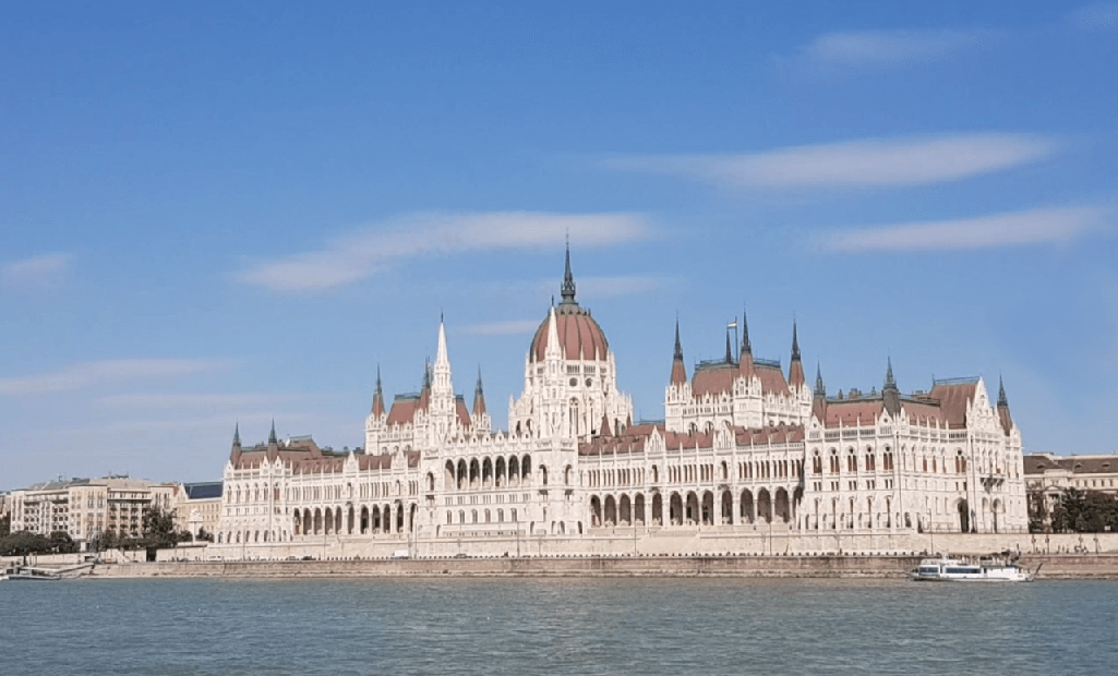 Saver price from Munich to Budapest: Parlament at the Donau river