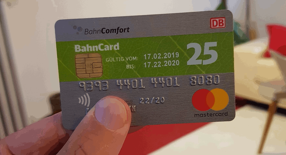 Bahncard 25 mit integrierter Kreditkartenfunktion