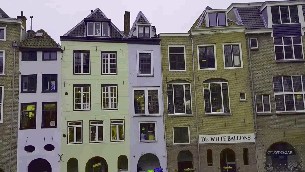 Old houses in the old town of Utrecht