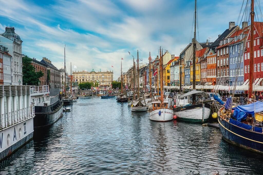 City harbour kopenhagen - Train-ride from hambugr to kopenhagen