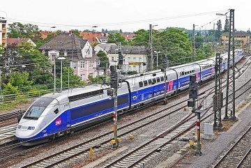 TGC train from Paris to frankfurt