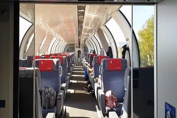 panorama train from switzerland to Hamburg